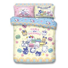 Uji Bedding - 1000 Threads Cotton Characters Bedding Set - TAMA and FRIENDS(4 Sizes option)52S-TM2101-MO