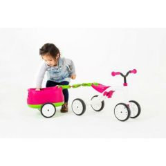 Belgium import - Chillafish Quadie+Trailer Grow-with-Me 4-Wheeler & Trailer Pink5425029650671