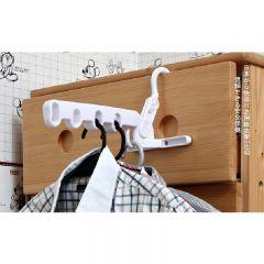 GOTO - 多用途5鉤衣架 - 灰白色 (LK431;LK435)