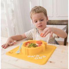 PiYO PiYO 黃色小鴨 - 一體式防滑矽膠碗 - 黃色 63129