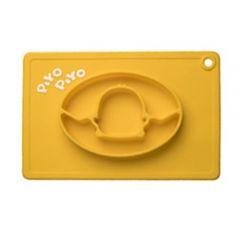 PiYO PiYO 黃色小鴨 - 一體式防滑矽膠餐盤 - 黃色 63130