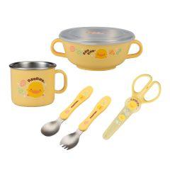 PiYO PiYO 黃色小鴨 - 不鏽鋼隔熱餐具組 - 黃色 63136