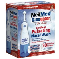 NeilMed Sinugator Cordles Pulsating Nasal Wash with 30 Premixed Packets  705928888012