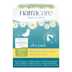 Natracare 有機棉超薄護翼衛生巾 (22cm 日用型, 14片獨立包裝)