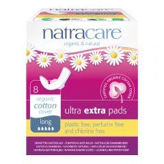 Natracare 有機棉纖巧護翼衛生巾 (31cm 夜用超量型, 8片獨立包裝 )