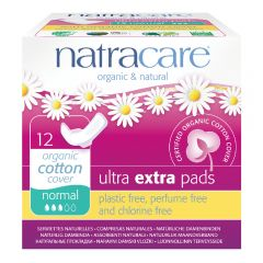 Natracare Ultra Extra Pads with wings (22cm Normal