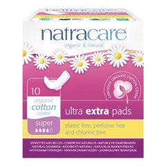 Natracare 有機棉纖巧護翼衛生巾 (26cm日用量多/ 夜用型, 10片獨立包裝 )