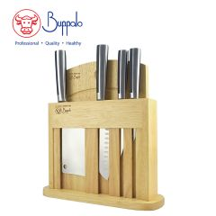 Buffalo - 6Pcs Stainless Knife With Hard Wood Block set (800148) 800148