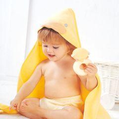 PiYO PiYO 黃色小鴨 - 毛巾布包巾 - 黃色 81422