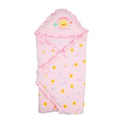 PiYO PiYO 黃色小鴨 - 冬季包巾 碎花 - 粉色 81572P