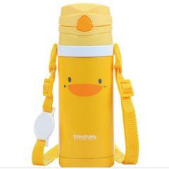 PiYO PiYO 黃色小鴨 - 不鏽鋼真空吸管隨行杯 83549
