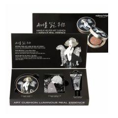 MAKEUP HELPER Art Cushion Luminous Real Essence Set #23 Natual Beige [black Edition] 8809299910640