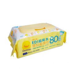 PiYO PiYO 黃色小鴨 - 超純水嬰兒濕紙巾-超厚/80抽 88118