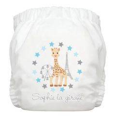 Charlie Banana® Diaper 2 Inserts Sophie at the Fair White One Size Hybrid AIO 8870526