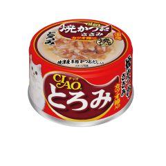 CIAO -  貓罐頭 濃湯 燒鰹魚 雞肉 +  鰹魚節 (80克 X 6罐)