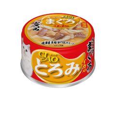 CIAO -  貓罐頭 濃湯 雞肉 吞拿魚 + 魷魚 (80克 X 6罐)