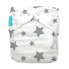Charlie Banana® Diaper 2 Inserts Twinkle Little Star Grey One Size Hybrid AIO 888705