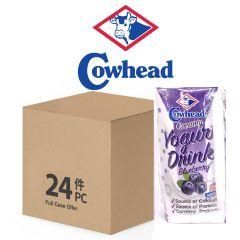 Cowhead - Creamy Yogurt Drink - Blueberry 200ml*24 Full Case Offer 8888440011341-24B