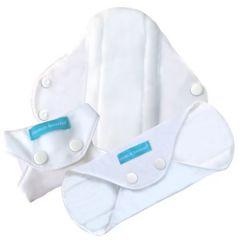 Charlie Banana® 3 Feminine Pads Regular White 889281