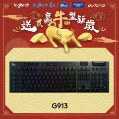 Logitech - G913 LIGHTSPEED Wireless RGB Mechanical Gaming Keyboard (Tactile) 920-008913