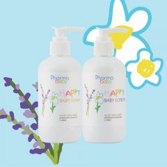 Pharmabelle- Happy Baby (aloe base) Wash & Lotion - Lavender & Camomile 93540050000