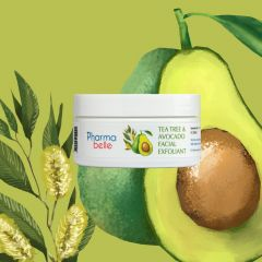 Pharmabelle- Tea Tree & Avocado Facial Exfoliant 9354005000024