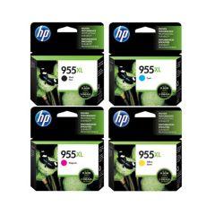 HP - No.955XL 原廠高容量墨水盒套裝 (黑色 L0S72AA+黃色 L0S69AA+洋紅 L0S66AA+綻藍 L0S63AA)