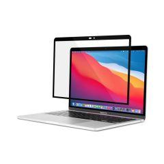 """Moshi - iVisor XT Clear Screen Protector for 13""""MacBook Pro / Air - Black(Clear)"""