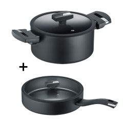 BER-0015441342 Berndes - b.green Alu Recycled Induction Sauté pan 24 cm with glass lid