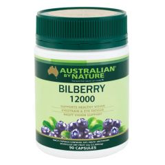 Australian by Nature Bilberry 12000mg 90 Capsules ABN00615