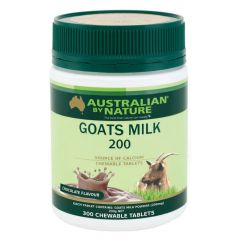 Australian by Nature Goats Milk 200mg 300 Tablets Variety - Chocolate ABN00621-C