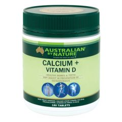 Australian by Nature Calcium 1500mg + Vitamin D500iu 180 Tablets ABN00628
