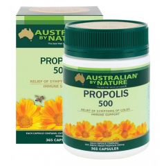 Australian by Nature Propolis 500mg 365 capsules ABN00660