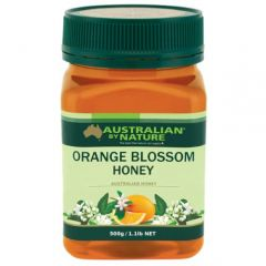 Australian By Nature Orange Blossom Honey 500g      ABN00662