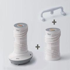 GW 水玻璃分離式無線除濕機主機優惠套裝(主機+2 x 120毫升除濕機+烘鞋架) ACA335A-NA3401