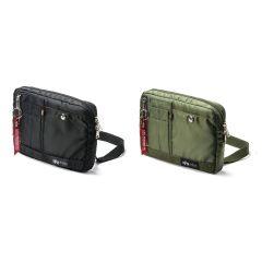 Alpha Industries - 200-Bag130 斜孭袋 (黑色 / 綠色)