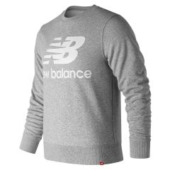 New Balance - Essentials Stacked Logo Crew Sweatshirt Athletic Grey AMT91548_AG