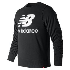 New Balance - Essentials Stacked Logo Crew Sweatshirt Black AMT91548_BK