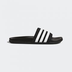 adidas -  Adilette Cloudfoam Plus Stripes 拖鞋黑色/白色  AP9971