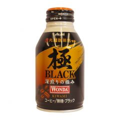 ASAHI - WANDA GOKU BLACK BOTTLE CAN 285ML (1 Bottle/ 6 Bottles/ 24 Bottles) (Parallel Import) ASAHI_WAOF_BLK_ALL