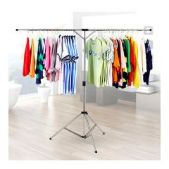 ASK_RK819-02 GLOBAL OUTLET - Portable stainless steel foldable clothes rack - (Silver)