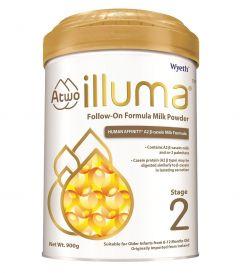 惠氏 - ILLUMA 親和人體A2 β-酪蛋白配方 2號較大嬰兒配方奶粉 (900克) B-WY0010