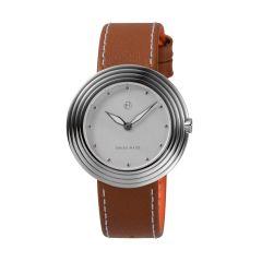 NOVE Streamliner Swiss Made Quartz Watch for Women (40mm Brown White B004-01) B004-01