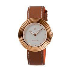 NOVE Streamliner Swiss Made Quartz Watch for Women (40mm Brown Rose B008-01) B008-01