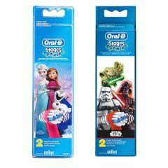 Oral-B - EB10 Kids Brush Head (2pcs) - Frozen / Starwars B00862-B00863