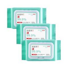 博滴BODYAID - 酒精衛生濕紙巾 120s x 3包