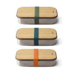 black+blum - 不鏽鋼天然竹蓋食物盒 900ml (3色可選) BAM-SB