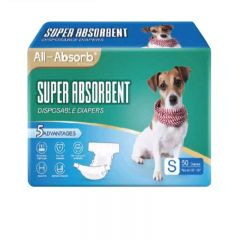 BDDDMFLM150 All-Absorb - USA Super Absorbent Disposable Diapers (Suitable for Female and Male) - Size:L [50pcs/pack]