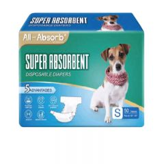 BDDDMFSM120 All-Absorb - USA Super Absorbent Disposable Diapers (Suitable for Female and Male) - Size:S [50pcs/pack]