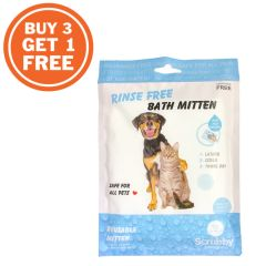 Scrubby USA Rinse Free Bath Mitten for Pet $30/pc (Buy 3 get 1 Free) BDS001M090